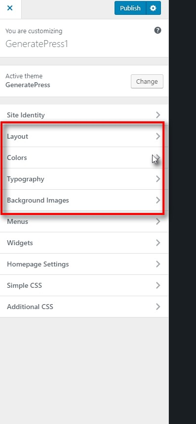 Layout colors typography and background images