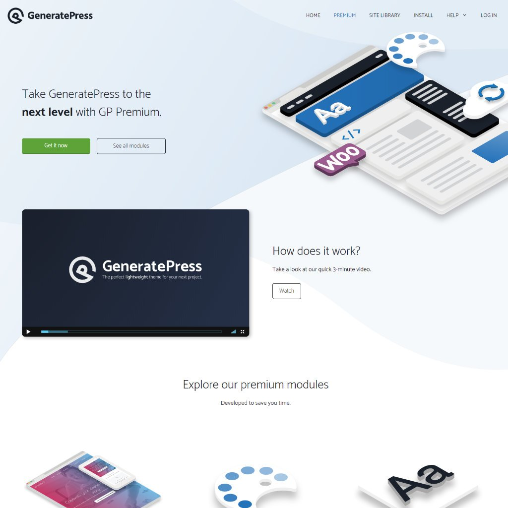 GeneratePress is a fully customizable theme.