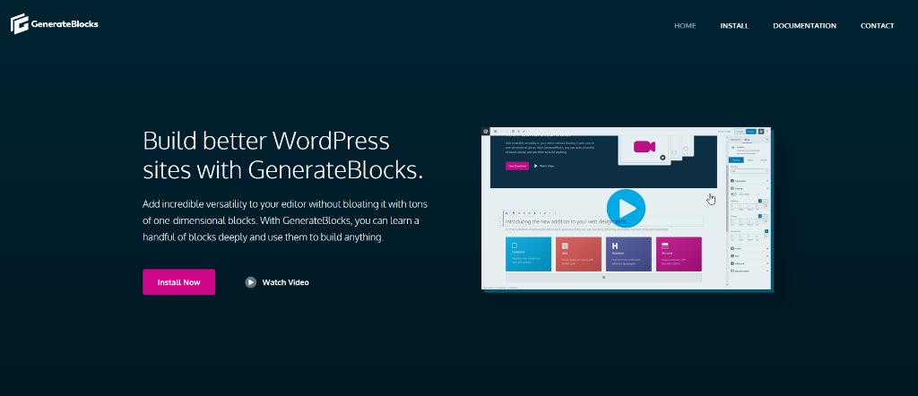 GenerateBlocks page layout plugin.