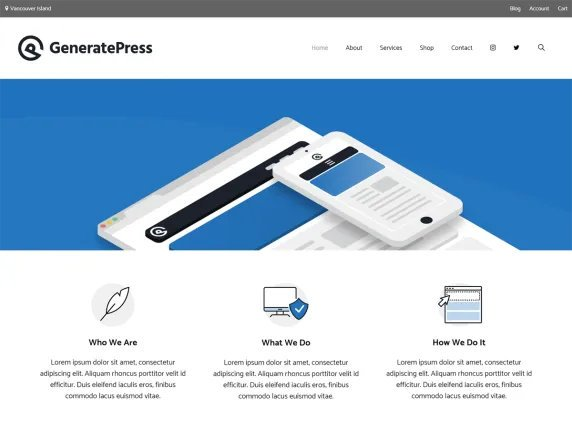 What is GeneratePress? It's a free light weight WordPress theme.